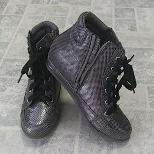 Justice High Top Metallic Gray